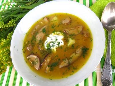 суп с сухими белыми грибами рецепт
